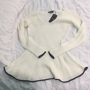 NWT A X cotton sweater, sz M